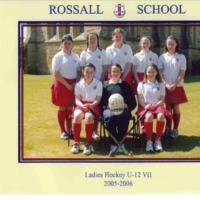 Ladies Hockey U12 VII Team Photograph 2005-6