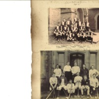 School Football Eleven Photograph and Hockey Team Photograph 1893-4