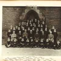 Rossall School Choir Photograph 1919