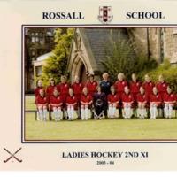 Ladies Hockey 2nd XI Team Photograph 2003-4