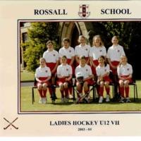 Ladies Hockey U12 VII Team Photograph
