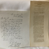 Original Council meeting notes and letters from the formation of Rossall School in 1844.
