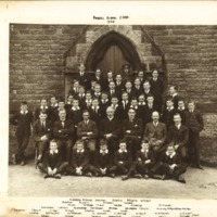 Rossall School Choir Photograph 1920