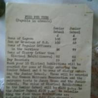 Rossall Fees 1960