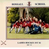 Ladies Hockey 1st XI Team Photograph 2003-4