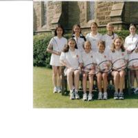 U15 Ladies Tennis Team Photograph 2000
